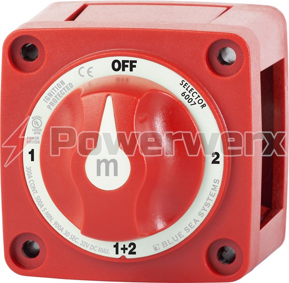 Picture of Blue Sea 6007 m-Series Mini Selector Dual Battery Switch Red