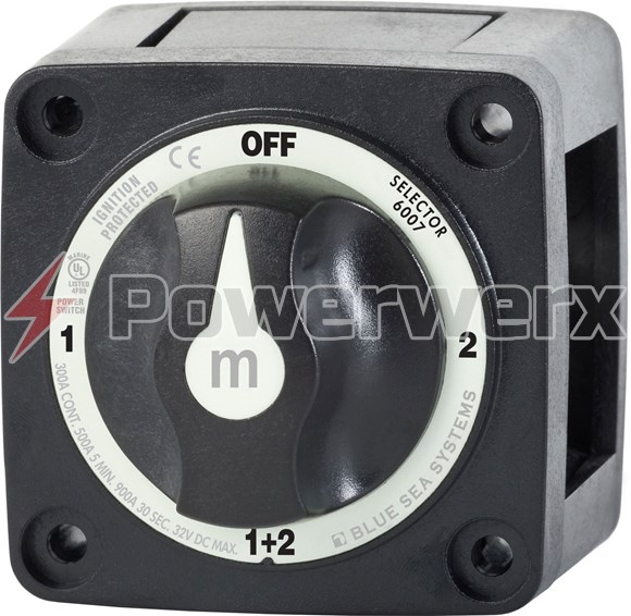 Picture of Blue Sea 6007200 m-Series Mini Selector Dual Battery Switch Black