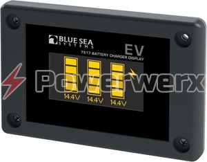 Picture of Blue Sea 7517 P12 Battery Charger OLED Display, 1-3 battery banks