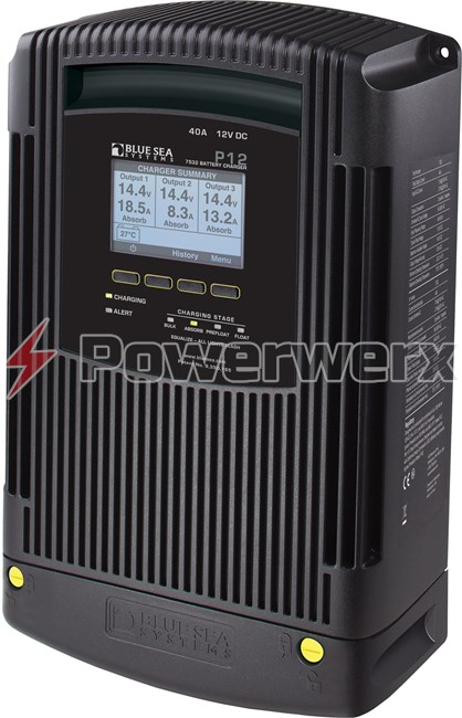 Picture of Blue Sea 7532 P12 Battery Charger Three Bank 12V DC 40A