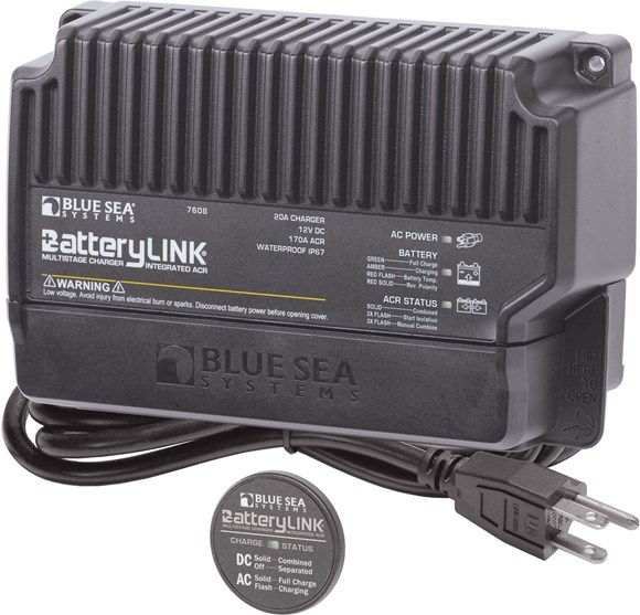 Picture of Blue Sea 7608-BSS BatteryLink Multistage 20A Battery Charger with 170A Integrated ACR