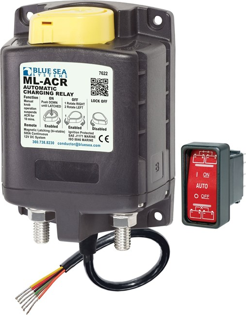 Picture of Blue Sea 7622 Automatic Battery Separator for Auxiliary Batteries 12V/500 Amps