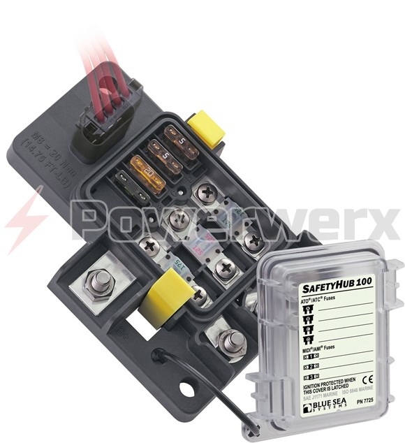 Picture of Blue Sea 7725 SafetyHub 100 Fuse Block