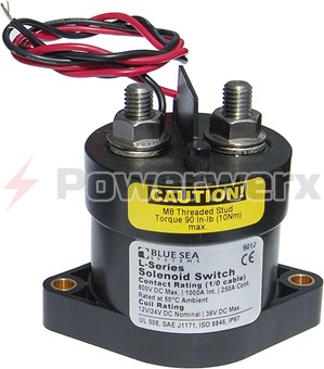 Picture of Blue Sea 9012 L Solenoid 12/24 VDC 250 Amps