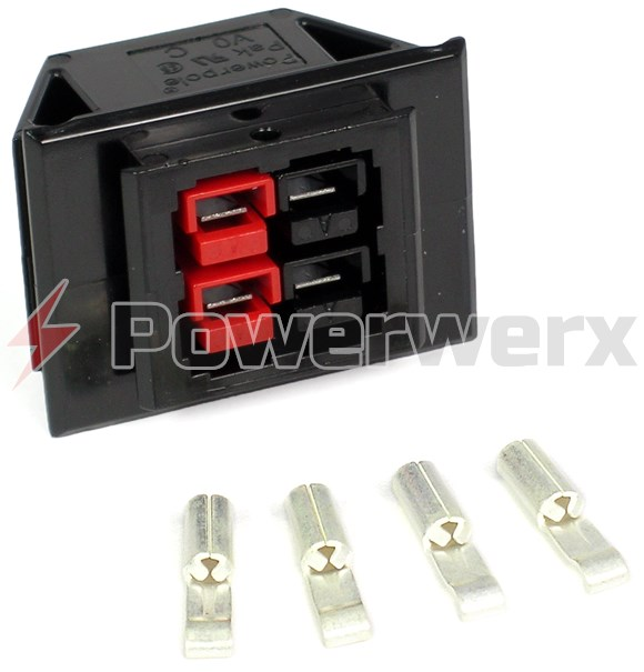 Picture of Chassis Mount for 2 Powerpole Connectors Sets (4 conductors)