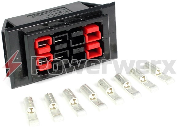 Picture of Chassis Mount for 4 Powerpole Connectors Sets (8 conductors)