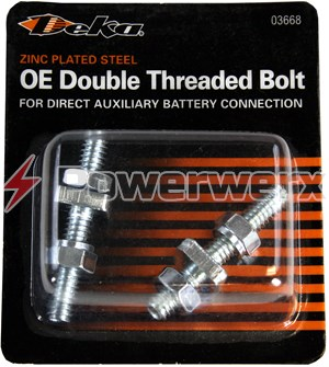 Picture of East Penn / Deka 03668 OE Double Threaded Bolt For Direct Auxiliary Battery Connection