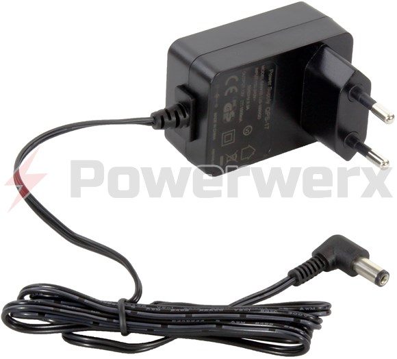 Picture of European Wall Power Adapter 100-240VAC input, 12VDC 1000 mA output