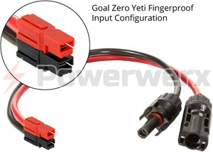 Picture of Goal Zero 98014 Solar MC4 to Anderson Powerpole Input Adapter Cable by Powerwerx