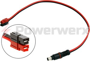 Picture of Goal Zero 98054 8mm to Vertical Fingerproof Powerpole Connector Adapter Cable by Powerwerx