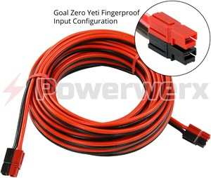 Picture of Goal Zero 98064  Fingerproof Vertical Anderson Powerpole Extension Cable 20 ft by Powerwerx