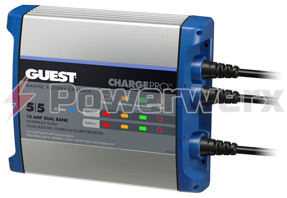 Picture of Guest 2711A On-Board 10A / 12V Compact Battery Charger 120V Input