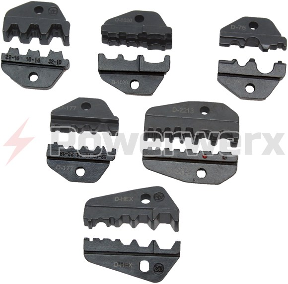 Picture of Interchangeable accessory die sets for the TRIcrimp powerpole crimping tool