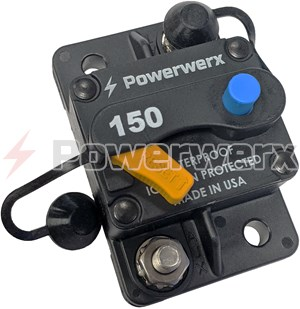 "Picture of Mechanical Products 17 Series Surface Mount Resettable Circuit Breakers, Push/Trip Reset, 1/4"" Stud, up to 150A"