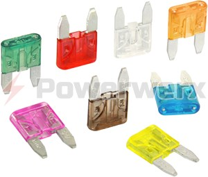 Picture of MINI/ATM Blade Type Fuses