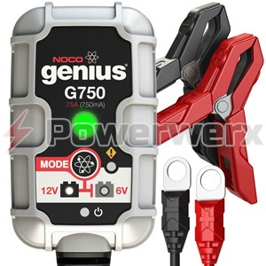Picture of NOCO Genius G750 6V/12V 750mA Amp Smart Battery Charger and Maintainer