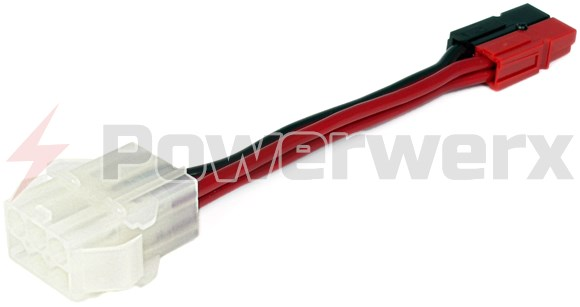 Picture of OEM Molex type 6 pin female socket (HFSOC) to Powerpole adapter