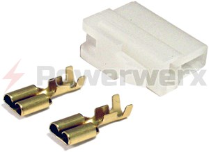 Picture of Original 2 pin Power connector for VHF/UHF Power cords - Power source side