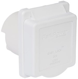Picture of ParkPower Weekender 30ARVIW 30 Amp 125V Power Inlet White color