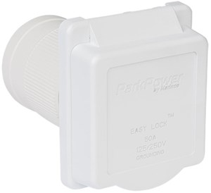 Picture of ParkPower Weekender 50ARVIW 50 Amp 125/250V Power Inlet White color