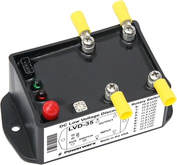 Picture of Powerwerx Compact Low Voltage Disconnect (LVD) Battery Guard