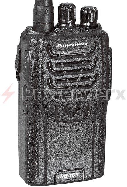 Picture of Powerwerx DB-16X Dual Band VHF/UHF 16 Channel Handheld Commercial Radio