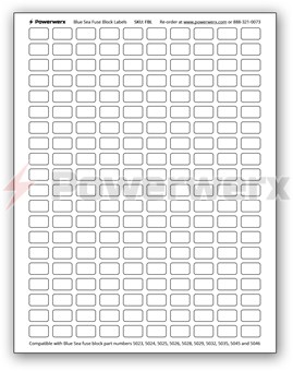 Picture of Powerwerx FBL 200 Count Label Sheet for Blue Sea Fuse Blocks