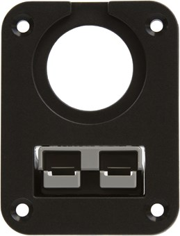 """Picture of Powerwerx PanelPlateSB2 for Anderson SB50 Series Connectors with One Panel Mount 1-1/8"""" Hole"""