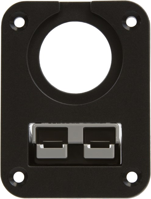 "Picture of Powerwerx PanelPlateSB2 for Anderson SB50 Series Connectors with One Panel Mount 1-1/8"" Hole"