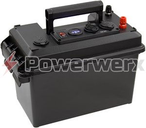 Picture of Powerwerx PWRbox Portable Power Box for 18-35Ah SLA or AGM Batteries