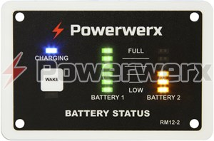 Picture of Powerwerx RM12-2 Single/Dual Bank Battery Monitor for Battery Chargers