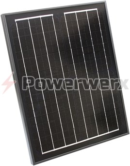 Picture of Powerwerx SP20M-BP 20 Watt Solar Panel for Charging Bioenno Power LiFePO4 Batteries