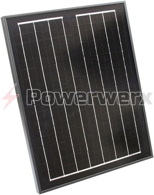 Picture of Powerwerx SP20M-BP 20 Watt Solar Panel for Charging Bioenno Power LiFePO4 Batteries