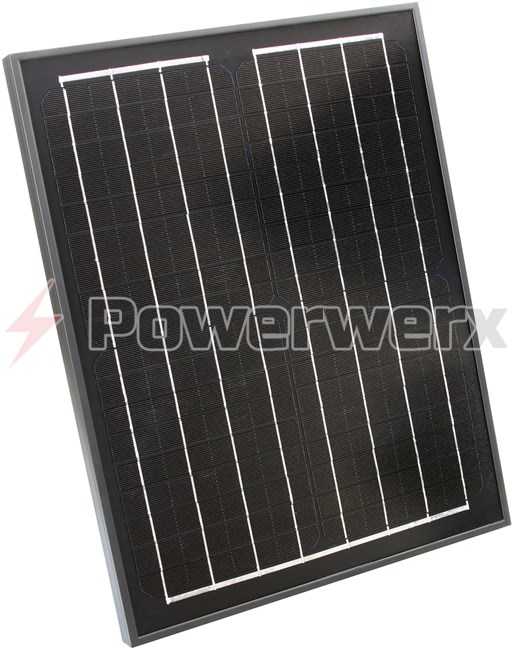 Picture of Powerwerx SP20M-SLA 20 Watt Solar Panel for Charging Flooded and AGM Type Batteries