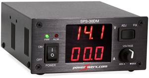 Picture of Powerwerx Variable 30 Amp Desktop DC Power Supply with Digital Meters