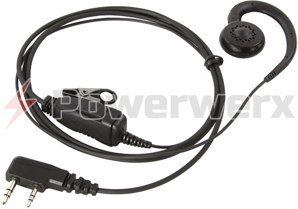 Picture of Professional Comfortable G-Hook Lapel Microphone for Wouxun and Anytone Radios