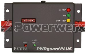Picture of PWRguard PLUS protects the radio, power supply and battery from damage