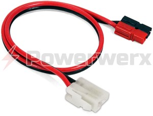 Picture of Radio OEM-T Connector to Powerpole Connector 18 in. Adapter Cable