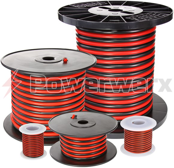 Picture of Red/Black Bonded Zip Cord Easy ID Low Voltage Cable