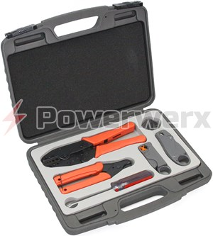 Picture of RF Coaxial Cable Crimper & Stripper Tool Kit