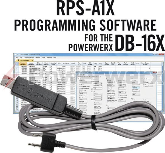 Picture of RT Systems RPS-A1X-USB Advanced Radio Programming Software and USB Cable for Powerwerx DB-16X