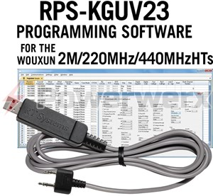 Picture of RT Systems RPS-KGUV23-USB Advanced Radio Programming Software and USB Cable Kit for Wouxun Radio KG-UV3D and KG-UV2D