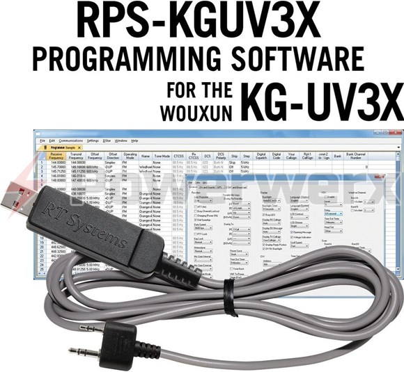 Picture of RT Systems RPS-KGUV3X-USB Advanced Radio Programming Software and USB Cable Kit for Wouxun Radio KG-UV3X Pro