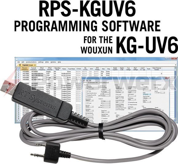 Picture of RT Systems RPS-KGUV6-USB Advanced Radio Programming Software and USB Cable Kit for Wouxun Radios KG-UV6X and KG-UV6D