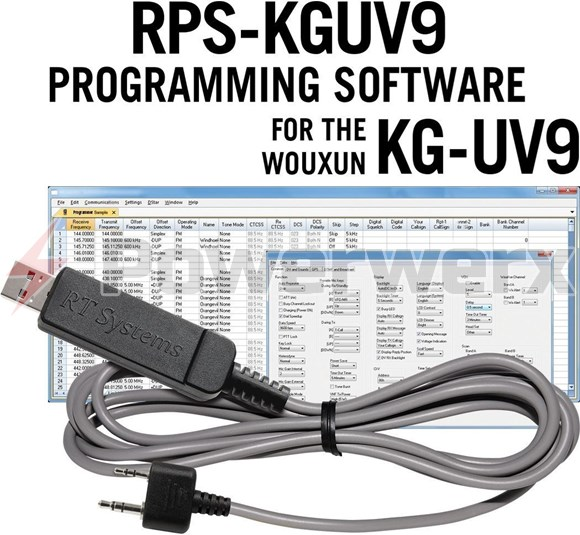 Picture of RT Systems RPS-KGUV9-USB Advanced Radio Programming Software and USB Cable Kit for Wouxun Radios KG-UV9D Plus and KG-UV9D