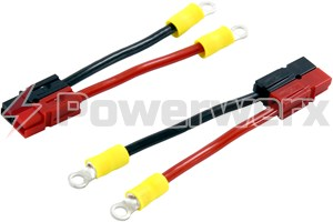 Picture of Short #8 Ring to Powerpole Connector Adapter Pair