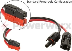 Picture of Solar MC4 to Anderson Powerpole Connector Adapter Cable