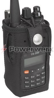 Picture of TERA CSC-590 Heavy Duty Nylon Windowed Radio Case with Stainless Belt Clip