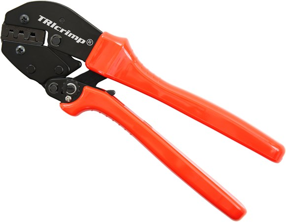 Picture of TRIcrimp, the best Powerpole crimping tool for 15, 30 and 45 amp contacts
