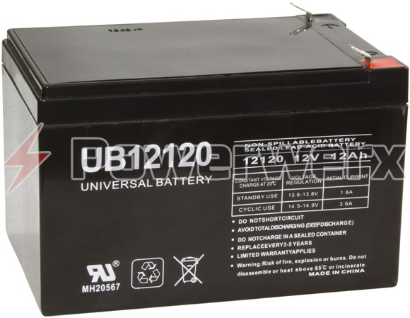 Picture of UPG UB12120 D5775 12V 12Ah F2 Terminal Sealed Lead Acid (SLA) Battery